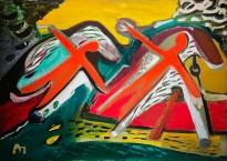 Александр Петров — Два всадника, 1988 (холст, масло)