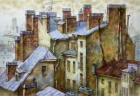 Анастасия Денисова - Дом-корабль, 2019 (бумага, акварель, карандаши)