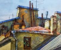 Анасасия Денисова - Солнце, 2019 (бумага, акварель, карандаши)