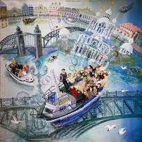 Анна Каждан — Праздник на воде, 2002 (холст, темпера)