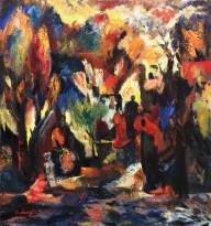 Ашот Хачатрян - Вечер, 1994 (холст, масло)