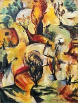 Ашот Хачатрян - Композиция с деревьямии, 1994 (холст, масло)