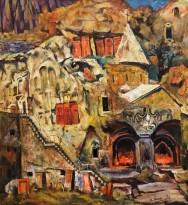 Ашот Хачатрян - Монастырь Гегард, 1993 (холст, масло)