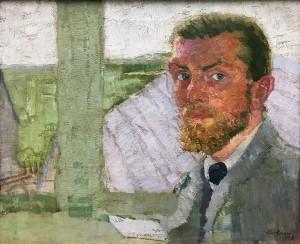 Макс Бекман - Автопортрет, 1905 (холст, масло)
