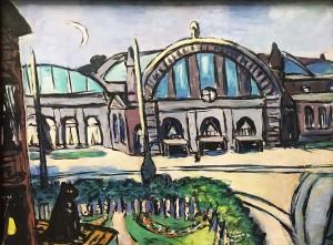 Макс Бекман - Главный вокзал во Франкфурте, 1942 (холст, масло)