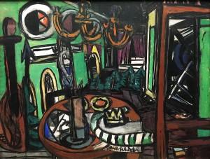 Макс Бекман - За сценой, 1950 (холст, масло)