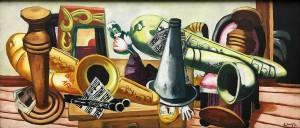 Макс Бекман - Натюрморт с саксофонами, 1926 (холст, масл)