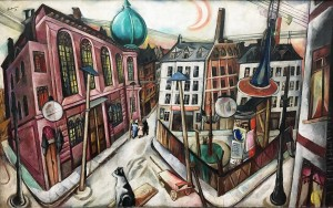 Макс Бекман - Синагога во Франкфурте на Майне, 1919 (холст, масло)