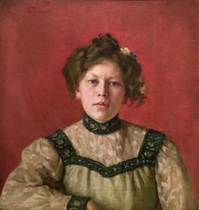 Анна Остроумова-Лебедева - Автопортрет, 1890-е (холст, масло)