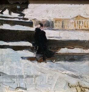 Валентин Серов - Набережная Невы. Этюд, 1887 г (холст, масло)