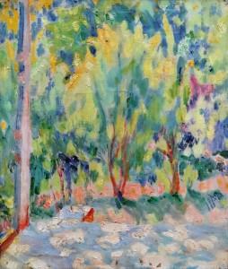 Михаил Ларионов - Весенний пейзаж, 1900 (холст, масло)