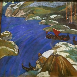 Николай Рерих - Варяжский путь, 1907 (холст, пастель, темпера)