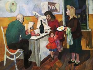 Валерий Ватенин - Семья, 1963 (холст, масло)