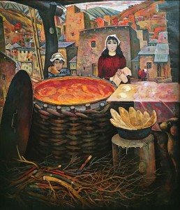 Магрез Келесхаев - Пекут Лаваши, 1979 (холст, масло)