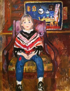 Ольга Богаевская - Кукольный домик, 1975 (холст, масло)