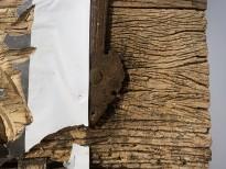 Чжань Хуань - Мой Зимний Дворец №3, 2019 (шелкография, резьба по деревянной двери) фрагмент