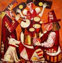 Игорь Клюшкин — Дочь барабанщика (холст, масло), 1994