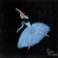 Катя Медведева — Балерина (бархат, смешанная техника), 2008