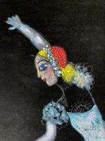 Катя Медведева — Балерина (бархат, смешанная техника), 2008 (фрагмент)