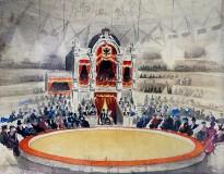 Константин Рудаков — Принцесса цирка (бумага, акварель), 1944