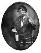 Неизвестный автор — Расклейщик афиш, 1845-50 (дагеротип) Париж.