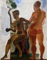 А. Дейнека - Две натурщицы, 1923 (холст, масло)