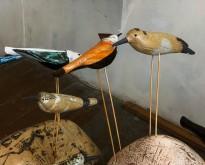 Екатерина Сухарева - Птицы и камни, 2011 (шамот, дерево, цветные массы, надглазурная и подглазурная роспись) фрагмент I