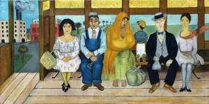 Фрида Кало - Автобус, 1929 (холст, масло. Музей Долорес Ольмедо)