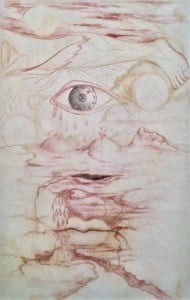 Фрида Кало - Без названия, без даты (пергамент, масло. Музей Долорес Ольмедо)