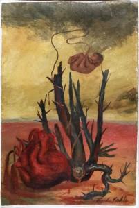 Фрида Кало - Без названия, без даты (пергамент, масло. М. долорес Ольмедо)