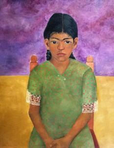 Фрида Кало - Портрет Вирджинии, 1929 (мазонит, масло. Музей Долорес Ольмедо)