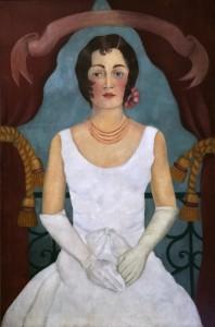 Фрида Кало - Портрет неизвестной в белом платье, 1929 (холст, масло. Частное собрание)