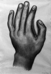 Фрида Кало - Рука, 1930 (бумага, карандаш. Музей Долорес Ольмедо)