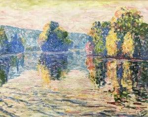 Жоржетт Агютт - Вид на Боньер, 1908 (холст, масло)