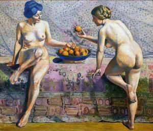 Жоржетт Агютт - Женщины с апельсинами (холст, масло)