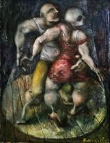 Александр Буровцов (1959-2008) - В круге света, 1977 (холст, масло)