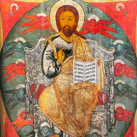 Спас в силах — Посл. четв. XVII в. Кострома (дерево, темпера)