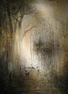 Ярмо Мякиля - Мальчик, превратившийся в оленя у Тайных Ворот II, 2013 (холст, масло)