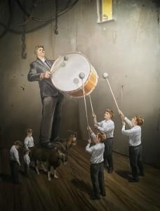 Ярмо Мякиля - Обряд посвящения, 2013 (холст, масло)