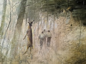 Ярмо Мякиля - Охота (фрагмент), 2010 (холст, масло)