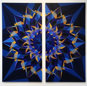 Ноор Абуаисса - Небо, полное звезд, 2014 (акрил, фибролит средней плотности)