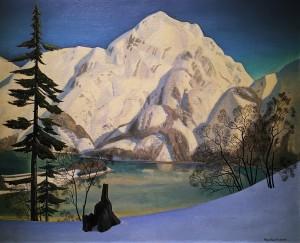 Рокуэлл Кент - Аляска. Вид с лисьих островов зимой, 1919 (холст на фанере, масло), ПМ
