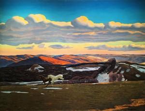 Рокуэлл Кент - Март (Весенняя лихорадка. Беркширские холмы, Массачусетс), 1908 (холст, масло), ПМ