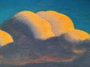 Рокуэлл Кент - Март (Весенняя лихорадка. Беркширские холмы, Массачусетс), 1908 (холст, масло), фрагмент, ПМ