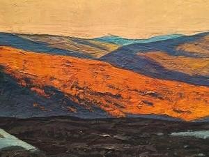 Рокуэлл Кент - Март (Весенняя лихорадка. Беркширские холмы, Массачусетс), 1908 (холст, масло), фрагмент 2, ПМ
