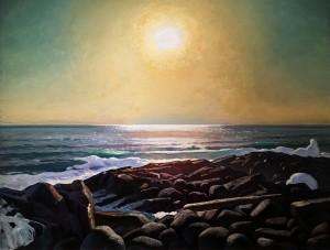 Рокуэлл Кент - Солнце над морем. Мэн, Монхеган, 1909-10 (холст на фанере, масло), ПМ
