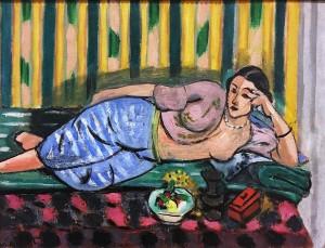 Анри Матисс - Одалиска с красной шкатулкой, 1927 (Музей Матисса в Ницце, холст, масло)