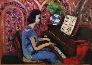 Анри Матисс - Пианистка в голубом платье, 1924 (Музей Матисса в Ницце, холст, масло)