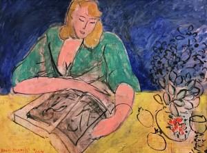 Анри Матисс - Читательница за желтым столом, 1944 (Музей Матисса в Ницце, холст, масло)