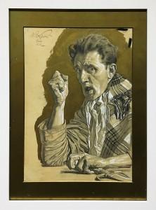 Максимилан Клевер - Автопортрет со сжатым кулаком, 1914